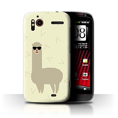 Stuff4® Hülle/Case für HTC Sensation XE/Coole Sonnenbrille Muster/Karikatur Alpaka Kollektion