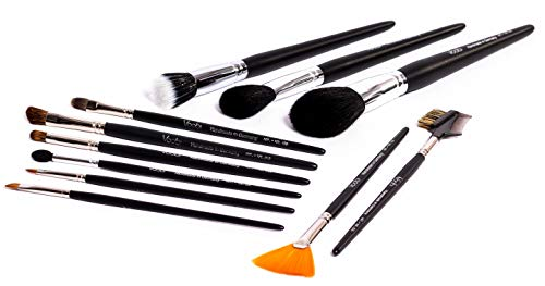 Voobi Collection №1 - Make Up Artist's Pinselset - Echthaar Profi Kosmetikpinsel - 11...