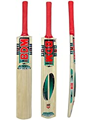 Bdm Kashmir Willow Wood Cane Handle Tennis Cricket Bat With Carry Case Adult Size - Choose Weight