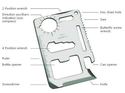 Top Werkzeug, das Stahl Kreditkarte 11Funktion Survival Multi Werkzeug, stecken, das ist der beste Freund zu jede Tasche, Geldbörse oder. Nicht ohne aus One