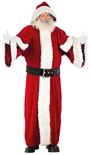 Weihnachtsmann Luxus Kostüm - Chaks n1016l, Kostüm Weihnachtsmann EU Lang, Ultra Hohe Qualität Luxus Erwachsene, Größe L