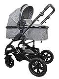 Cynebaby California Kombi-Kinderwagen 3in1 mit Babyschale (grau ohne Babyschale)