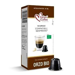 60 Capsule Orzo solubile Biologico Bio Italian Coffee compatibili macchine Nespresso