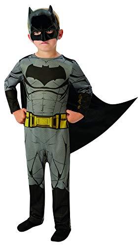 Halloweenia - Jungen Kinder Batman Dawn of Justice Classic Kostüm mit Overall, Cape, Maske , perfekt für Karneval, Fasching und Fastnacht, 110-122, ()