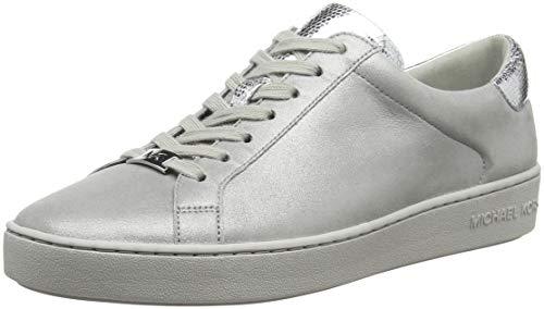 Michael Kors Damen Irving Lace Up Sneaker, Silber (Silver 040), 40 EU