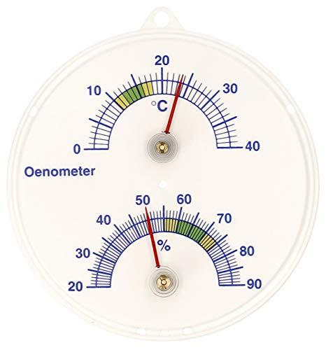 Lantelme - Bodega vino termómetro e higrómetro. termómetro analógico de önometer vino bimetálico...