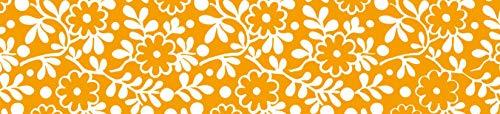 Braun & Company 3355-1091 Sunny Smile - Mantel, Color Naranja y Blanco