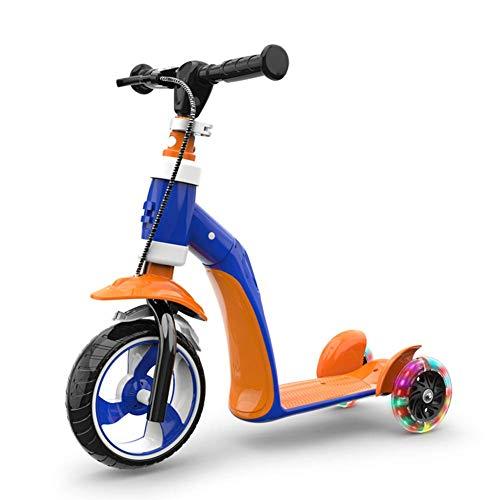 MOM Outdoor Sports Scooter Kick, Kick Scooter ideal für Kinder Kleinkinder Mädchen oder Jungen, Höhenverstellbar mit extra breitem Deck Pu Blinkende Räder Kinderspielzeug Balance Car Mini,Stil 4