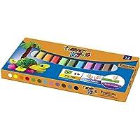 BIC Kids Plasticine Lot de 12 couleurs assorties