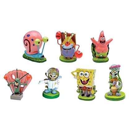 Penn-Plax SpongeBob 7-Piece Square Pants Aquarium Ornaments 1
