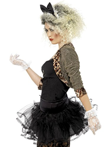 Imagen de mujer madonna 80s 1980s smiffys disfraz  todas las tallas  negro, women 12 14 alternativa