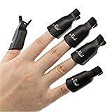 sannysis? 10Kunststoff Nail Art Soak off Cap Clips UV Gel Polish Remover Wrap B