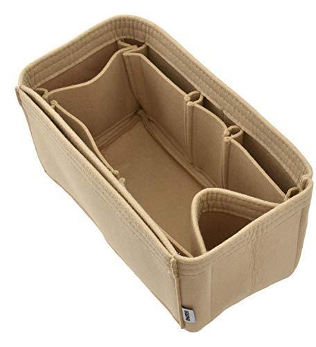 ONGER50 Filz-Handtaschen-Organizer - Multi Pocket Bag und Tote Organizer Shaper Liner Einsatz, Beige (beige), Large (Base Speedy Shaper)