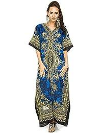 92823be72035f Classic Curves Women's Kaftan Dress Beach Cover Up Ladies Kaftan Sleepwear  Polyester Kaftan Night Gown Robe
