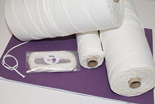 Kerzendocht LX - Für die Herstellung von Kerzen - Hohe Qualität - 5 Meter - LX8