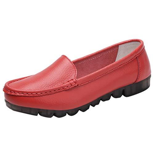 JYJM Frauen Flacher Mund Schuhe Damen Faule Schuhe Bequeme Flache Freizeitschuhe Elegant Strandschuhe Groß Einzelne Schuhe Leichtgewicht Sommer Strand Schuhe