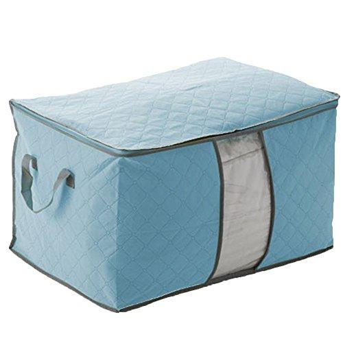 Swarish Large Storage Bag Box for Clothes Quilt Duvet Laundry Pillows, Color...