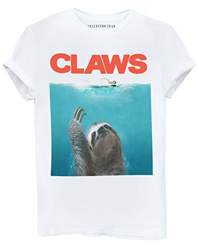 Tricky Ink Claws Sloth T Shirt (Jaws) Paws Parody S M L XL 2XL Mens Womens