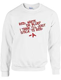 PRETTY LITTLE LIARS ~ RED, WHITE OR BLUE? ~ WHITE UNISEX SWEATSHIRT S - XXL