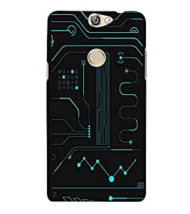 PrintVisa Electronic Circuit Pattern 3D Hard Polycarbonate Designer Back Case Cover for Coolpad Max