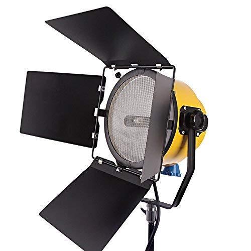 HWAMART® 2000W Spotlight Cabeza Amarilla luz rubio luz regulable película de tungsteno luz película estudio de fotografía continua (One Light) (One blonde)