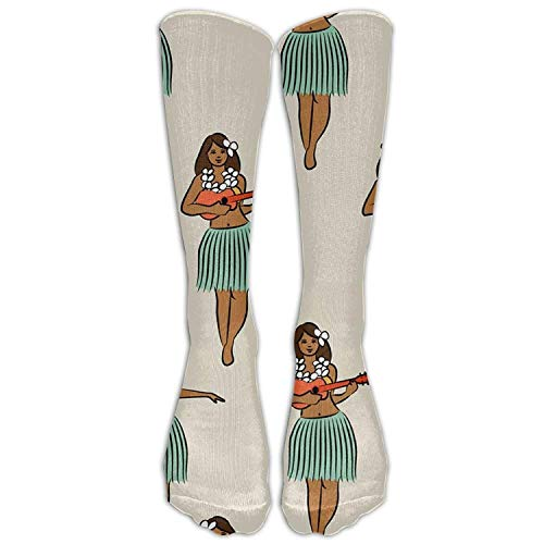 bvncfghjdfgj Unisex Unique Design Hawaiian Hula Girl Socks 78% Cotton / 20% Nylon / 2% Spandex (Hula-mädchen-affe)