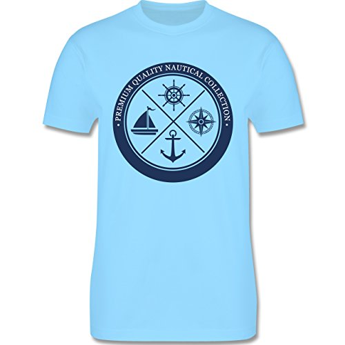 Shirtracer Schiffe - Premium Quality Nautical Collection Sailing - Herren T-Shirt Rundhals Hellblau