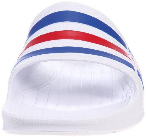 adidas Duramo Slide, Men's Open Toe Sandals, White (White/True Blue/Red), 9 UK (43 EU)