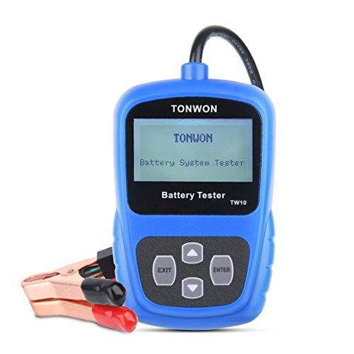 Testeur de batterie TONWON Testeur de charge de batterie de voiture 12V Analyseur de diagnostic de tension et de charge de démarrage automatique de la batterie