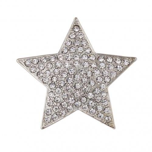 Treend24 Stern Silber Magnet Brosche Strass Schal Clip Bekleidung Magnetbrosche Poncho Taschen Stifel Textilschmuck Eule Herz stern
