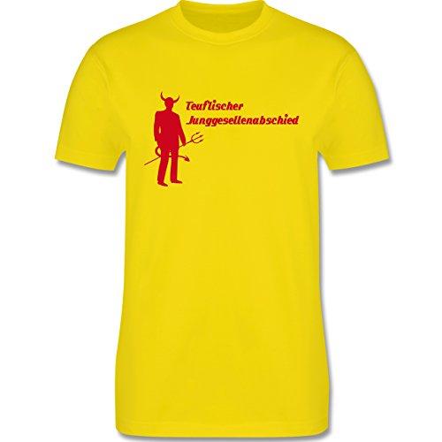 JGA Junggesellenabschied - Teuflischer Junggesellenabschied - Herren Premium T-Shirt Lemon Gelb