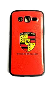 A fit to use Ferrari rubber case for Samsung Galaxy Grand 2 in Red