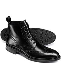 Black Brogue Wing Tip Boots by Charles Tyrwhitt