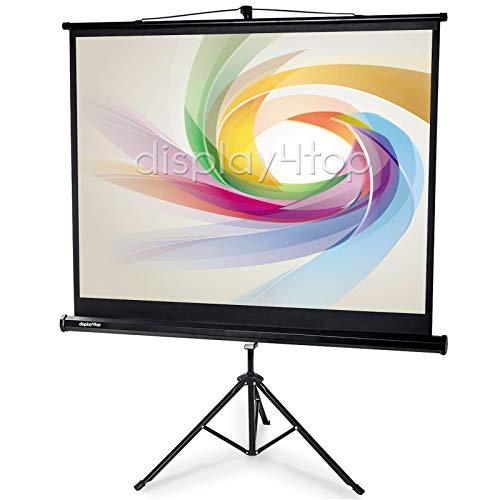 Display4top Beamer Leinwand mit Stativ Projektionsleinwand, Größe:122cm(W) x 91cm(H)