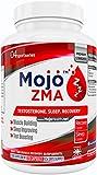 MOJO™ ZMA - ZMA KAPSELN | Zink Magnesium Vitamin B6 Ergänzungsmittel | Verbesserte Muskelleistung, Kraft | Erhöht den Testosteronspiegel | Schlafhilfe für einen erholsamen Schlaf in der Nacht & Luzide Träume | 120 Kapseln + Geld Zurück Garantie