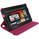 rooCASE for Amazon Kindle Fire 7 inch - Slim-Fit Vegan Leather Folio