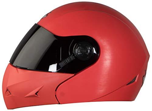 Steelbird SB-45 7Wings Flip Up Helmet with Smoke Visor (Medium 580 MM, Dashing Red)