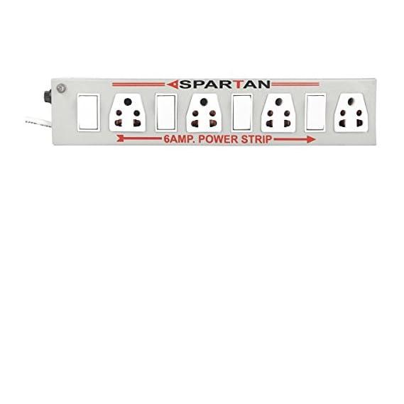 Spartan Power Strip 6A 4-Socket Extension Cord (White)