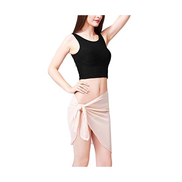 Involucro da bagno bikini con copertura in bikini in chiffon sexy di Sarong stampato da donna 4 spesavip