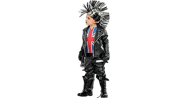 huge discount 3a076 a806d Costume di Carnevale da Punk Vestito per Ragazzo Bambino 7 ...
