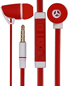 Premium 3.5mm Designed In Ear Bud Earphones Headset Handsfree Compatible For Samsung Galaxy Core Prime G360 -Royal Red