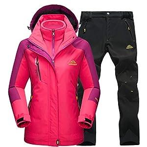 Damen Skianzüge Winter wasserdicht Warmhalten Bergsteigeranzug Furnier Double Board Jacken