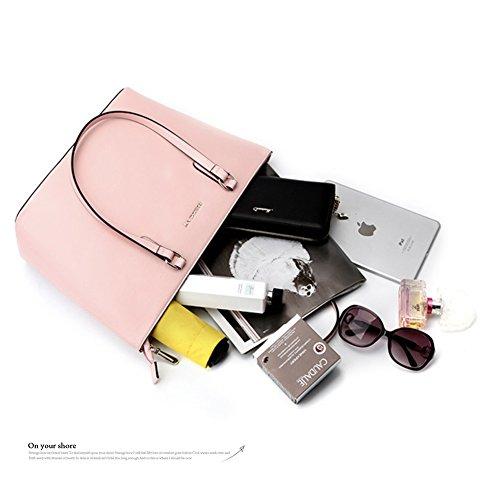 Sacchetti eleganti di borse di modo di Yoome di grande capacità per sacchetti di sacchetto di trucco della borsa delle signore delle donne - dentellare Rosa