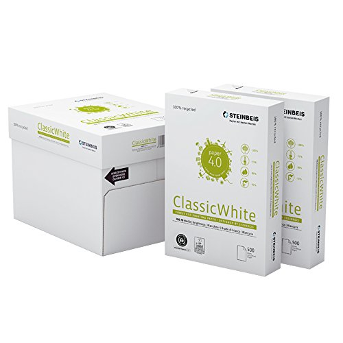 STEINBEIS A4, 80 g/m² papel universal 35 paquetes (17,500 hojas) en 7 cajas