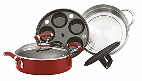 Circulon Chakall Hard Anodised 24 cm Four-in-One Pans Set - Red