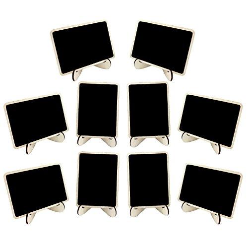 Gosear 10 Stk Mini Holz Tafeln Tafeln Menü Boards Desktop Dekoration mit Staffelei Steht für Hochzeit Partei Täglich Startseite Decor