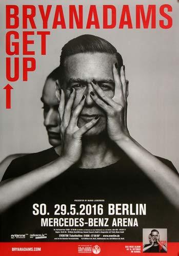 Adams Vintage Rock (Premium Poster/Plakat   DIN A1   Live Konzert Veranstaltung » Bryan Adams - Get Up, Berlin 2016 «)