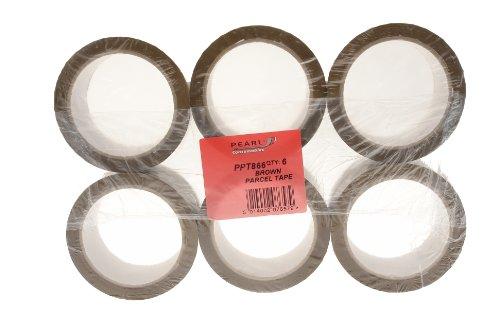 Pearl PPT866 Paketklebeband, 50mmx66m, 6 Rollen -