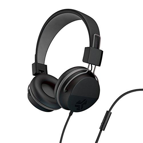Madrid Plüsch (JLab Audio Neon Kopfhörer auf-EAR Feather Light, Ultra Plüsch Eco Leder, 40mm Treiber schwarz)