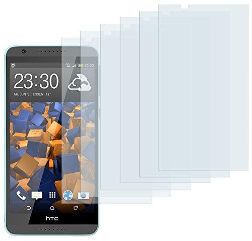 mumbi Schutzfolie kompatibel mit HTC Desire 820 Folie klar, Bildschirmschutzfolie (6x)